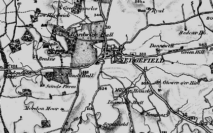 Old map of Sedgefield in 1898