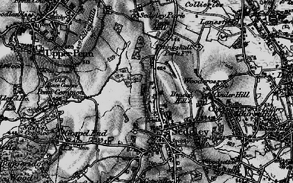 Old map of Sedgley in 1899