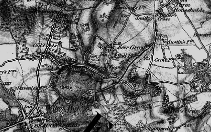 Old map of Seer Green in 1896