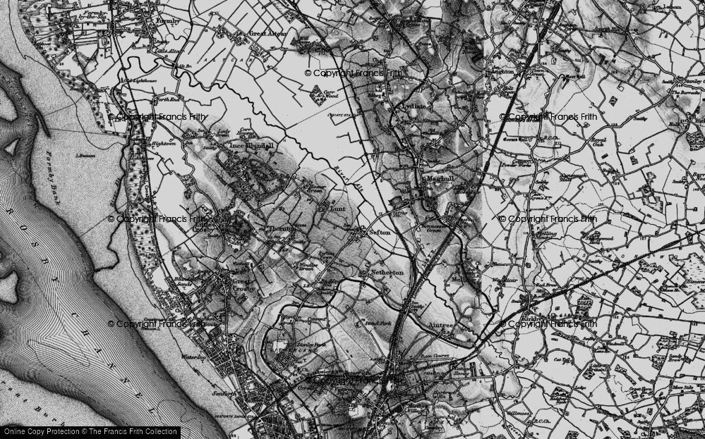 Old Map of Sefton, 1896 in 1896