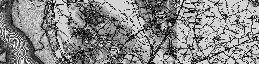 Old map of Sefton in 1896
