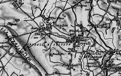 Old map of Seisdon in 1899