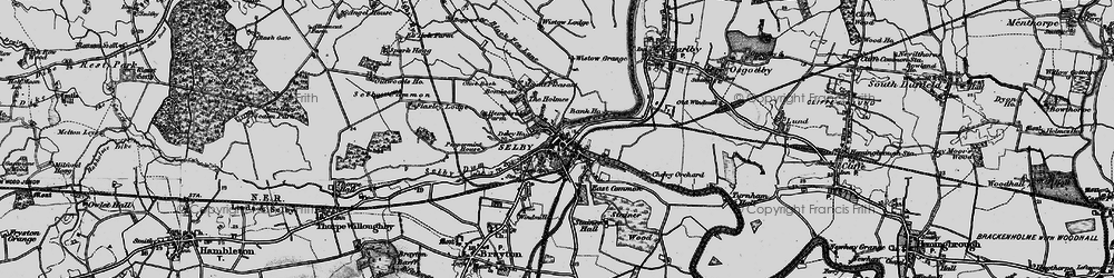 Old map of Selby in 1895