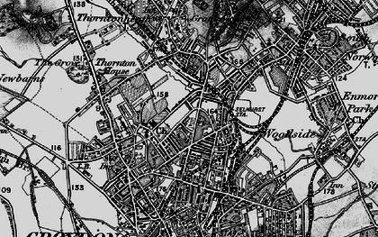 Old map of Selhurst in 1895