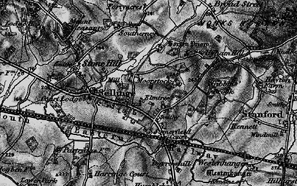Old map of Sellindge in 1895