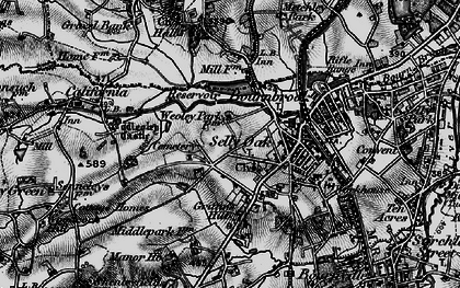 Old map of Selly Oak in 1899