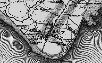 Old map of Selsey in 1895