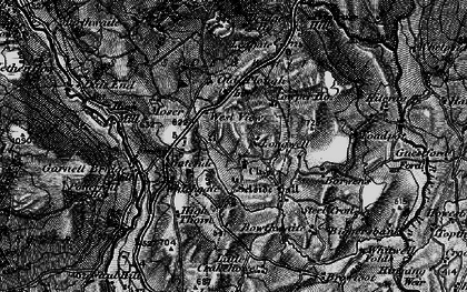Old map of Leagate in 1897