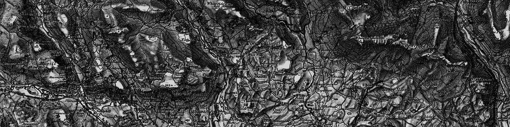 Old map of Whitewell Folds in 1897