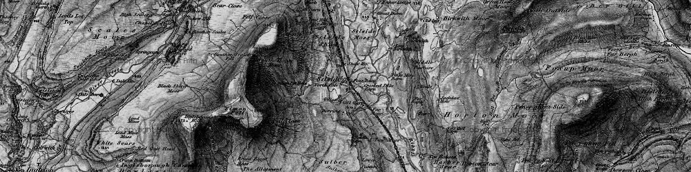 Old map of Alum Pot in 1898
