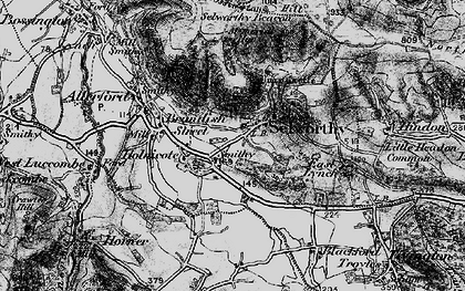 Old map of Selworthy in 1898