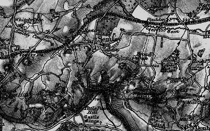 Old map of Tittle Path Hill in 1895