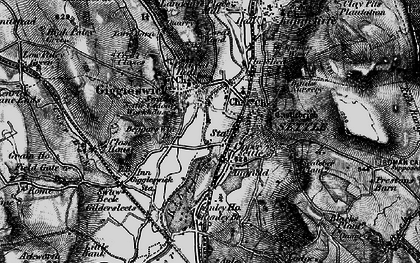 Old map of Settle in 1898