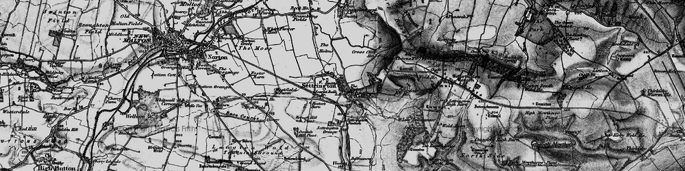Old map of Wold Ho in 1898