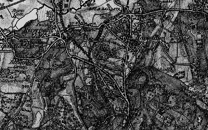 Old map of Sevenoaks in 1895