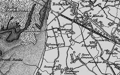Old map of Severn Beach in 1898