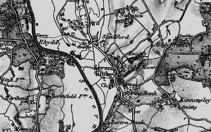 Old map of Severn Stoke in 1898