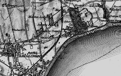 Old map of Sewerby in 1897