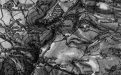 Old map of Air Balloon (PH) in 1896