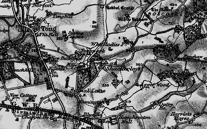 Old map of White Ladies Priory in 1897