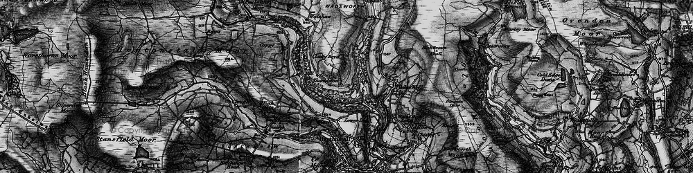 Old map of Abel Cross in 1896