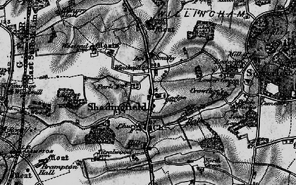 Old map of Titsal Wood in 1898