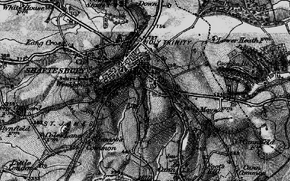 Old map of Shaftesbury in 1898
