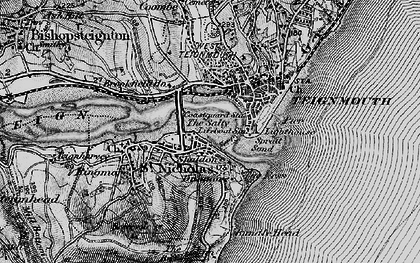 Old map of Shaldon in 1898