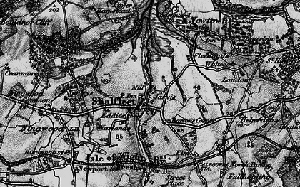 Old map of Shalfleet in 1895