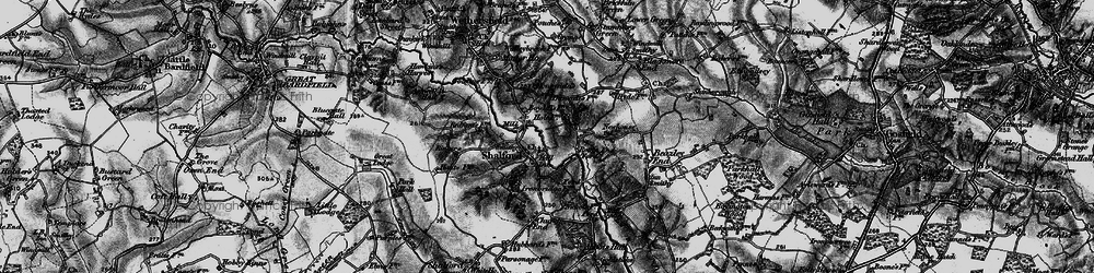Old map of Shalford in 1895