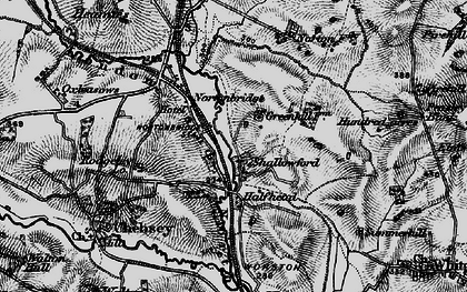Old map of Shallowford in 1897