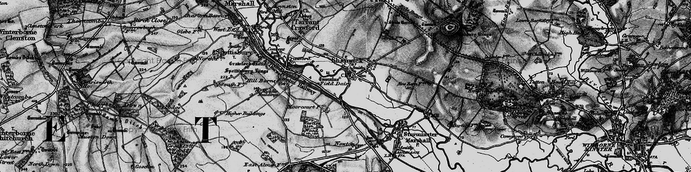 Old map of Westley Wood in 1895