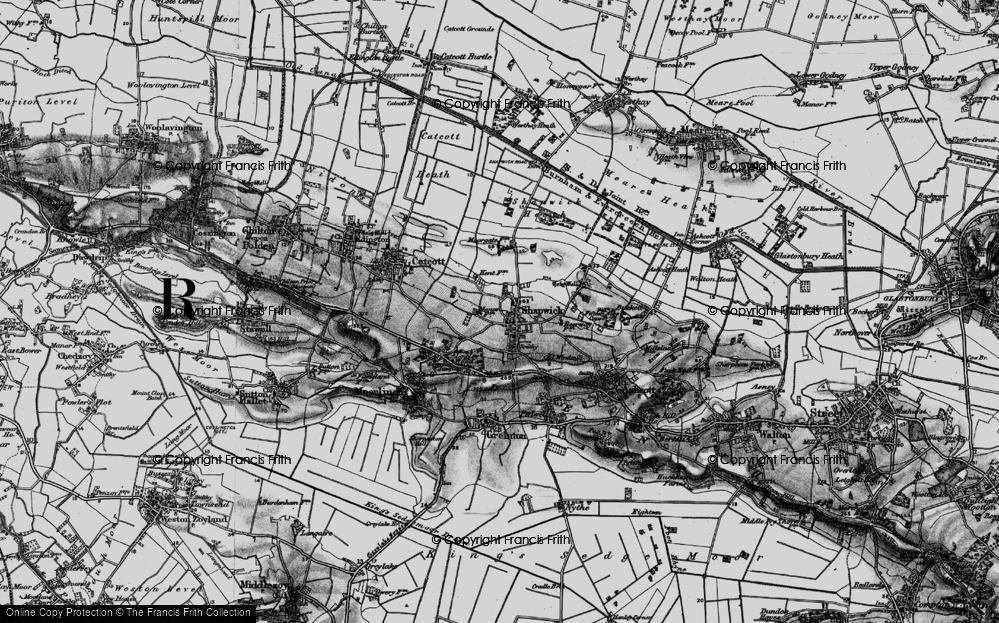 Old Map of Shapwick, 1898 in 1898