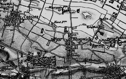 Old map of Shapwick in 1898