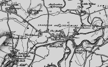 Old map of Ambaston Grange in 1895