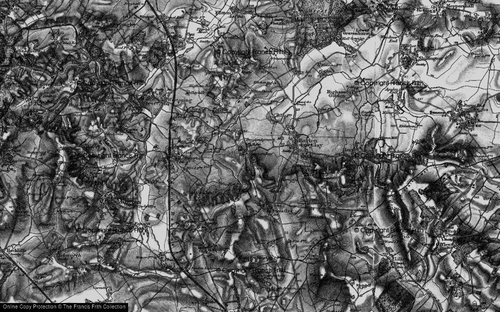 Old Map of Sharpenhoe, 1896 in 1896