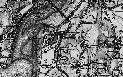 Old map of Sharpness in 1897