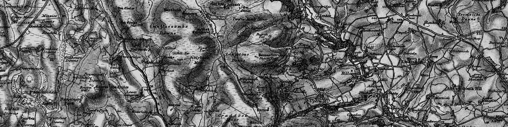 Old map of Witheybrook Marsh in 1895