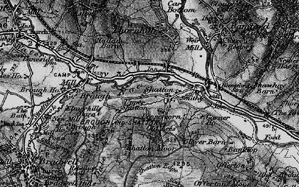Old map of Bamford Sta in 1896