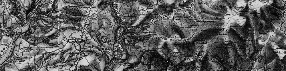 Old map of Wigford Down in 1898