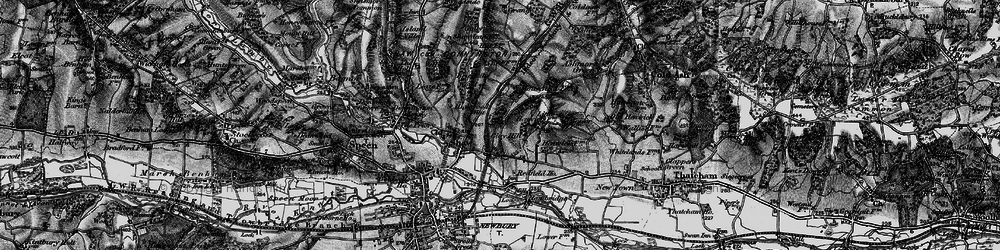Old map of Shaw in 1895