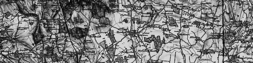 Old map of Shawbury in 1899