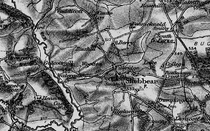 Old map of Wootton in 1895