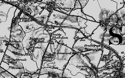 Old map of Wharf Inn in 1897