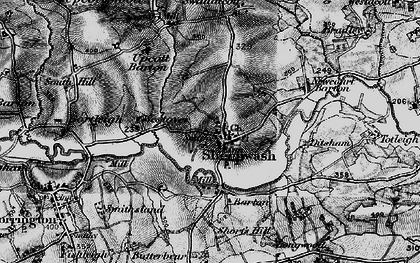 Old map of Wooda in 1895