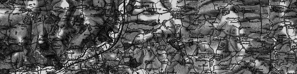 Old map of Sheering in 1896