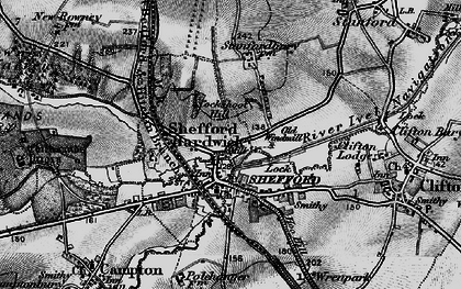 Old map of Shefford in 1896