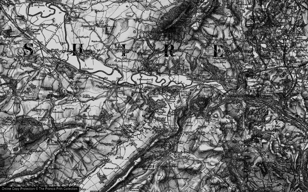 Old Map of Historic Map covering Bannister's Coppice in 1899
