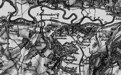 Old map of Bannister's Coppice in 1899