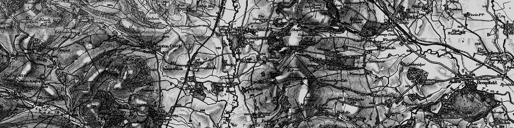 Old map of Woodhead in 1899